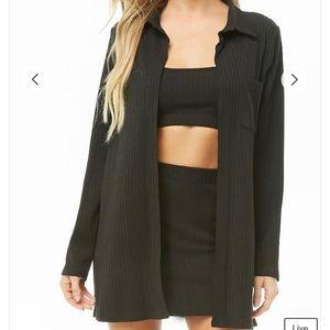 Ribbed Cami Top & Mini Skirt Three Piece Set